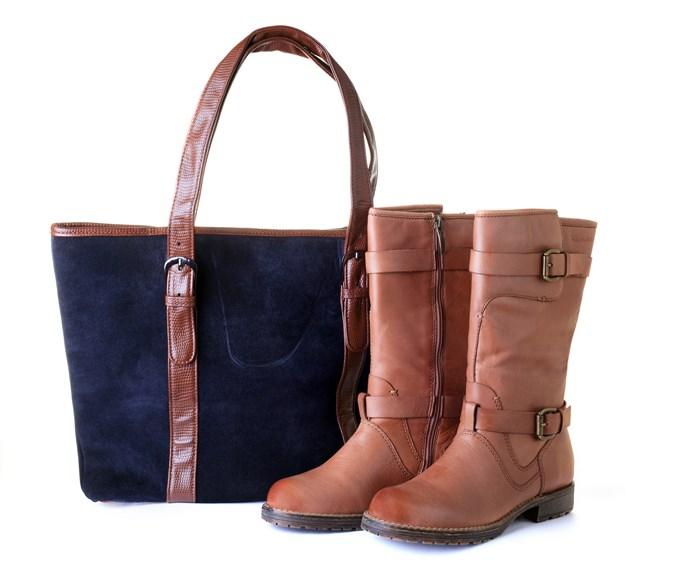 Chaussures et sac assortis