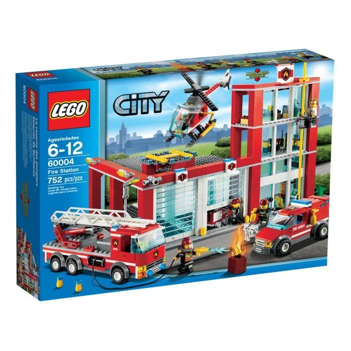 caserne pompier lego