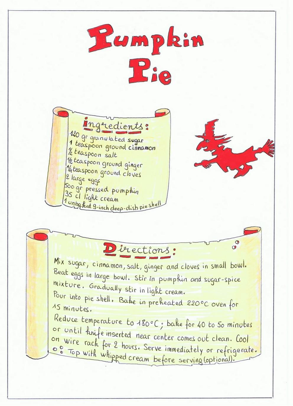 recette de cuisine en anglais