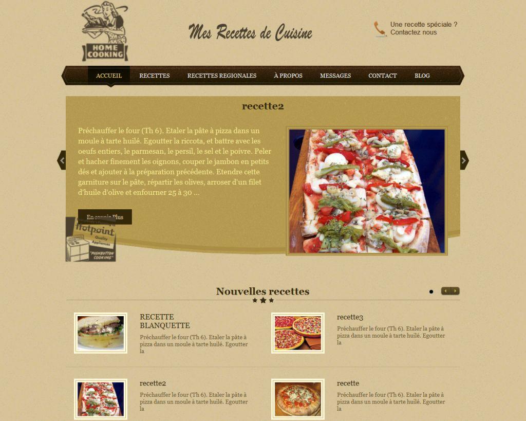 site de recette de cuisine