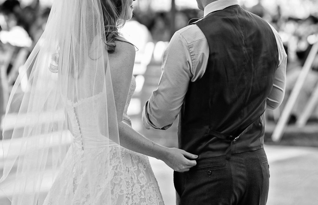 cascade du voile de la mariée
